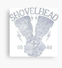 Shovelhead Motorcycle Engine Metalldruck