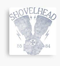 Shovelhead Motorcycle Engine Leinwanddruck