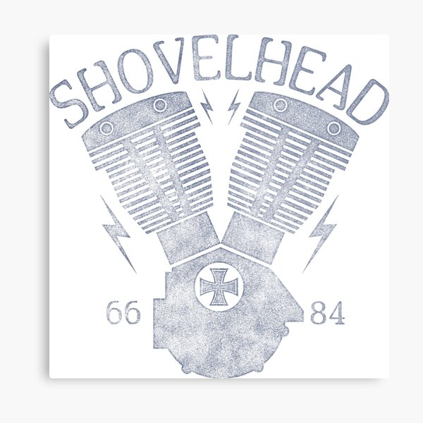 Shovelhead Motorcycle Engine Metal Print