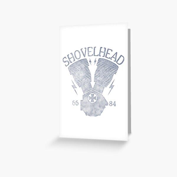 Shovelhead Motorcycle Engine Greeting Card