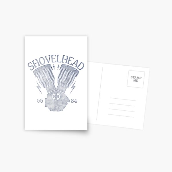 Shovelhead Motorcycle Engine Postcard