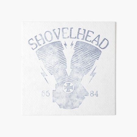Shovelhead Motorcycle Engine Art Board Print