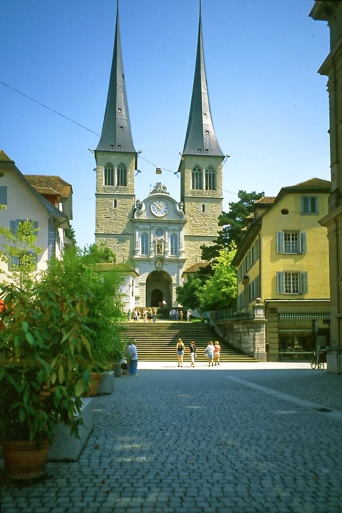 Sankt Leodegar Cathedral, Luzern, Switzerland by Priscilla Turner