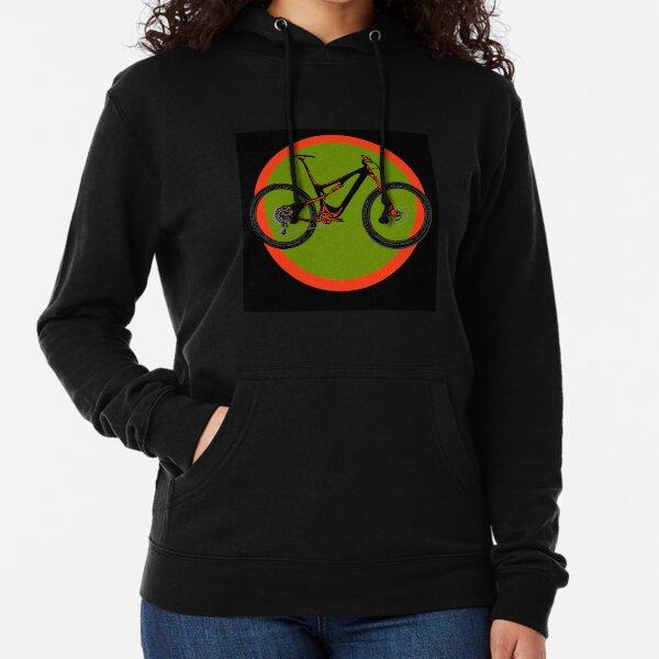Mountain Bike Green and Red Lightweight Hoodie