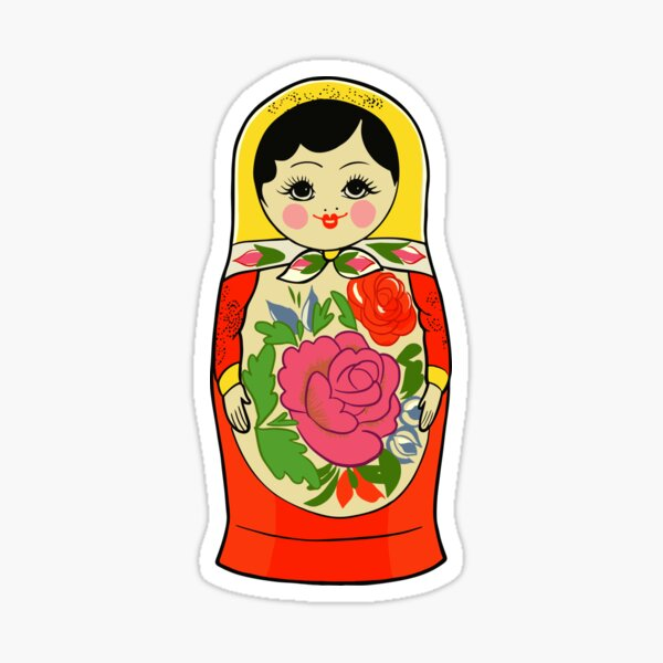 Autumn 7 Piece Russian Fall Season Matryoshka Babushka Stacking Nesting Doll Toy