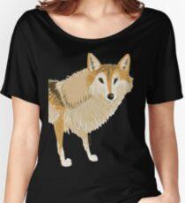 Totem Tibetan Wolf  Camiseta ancha para mujer