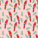 Ara Papagei tropischen Vogel Dschungel Tier Natur Muster von Andrea Lauren