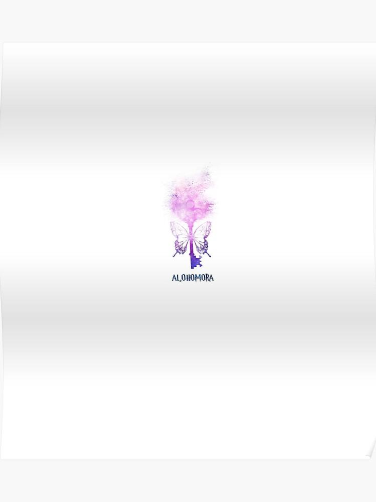 HP Potterhead - flying magic key - magic spell (pink/blue galaxy sand  explosion) | Poster