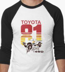 1st gen Toyota Truck 4WD 1981 Men's Baseball ¾ T-Shirt