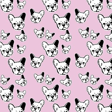 Frenchies Pink Pattern by fuseleven