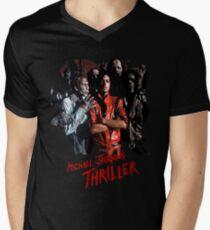 Michael jackson thriller the new t shirt Men's V-Neck T-Shirt