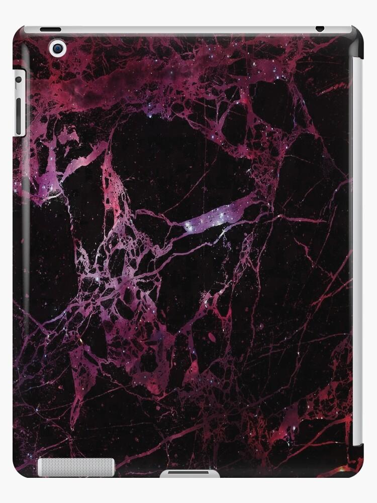 Texture de galaxie de marbre - galaxie rouge », Coques et skins iPad ...