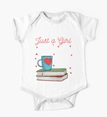 A Girl in Love With Her Books Bookworm Book Lover One Piece - Short Sleeve