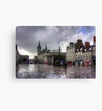 Aberdeen in the rain Canvas Print