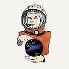 Yuri Gagarin, a Soviet pilot and cosmonaut. by Selendripity