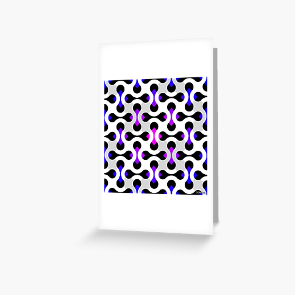 Unreal Color Squares Greeting Card