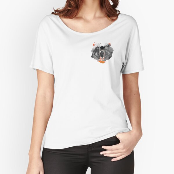 go bears! in black Relaxed Fit T-Shirt