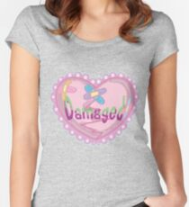Kawaii Yami, Pastel Goth, Damaged, Pastel Grunge Shirt Women's Fitted Scoop T-Shirt