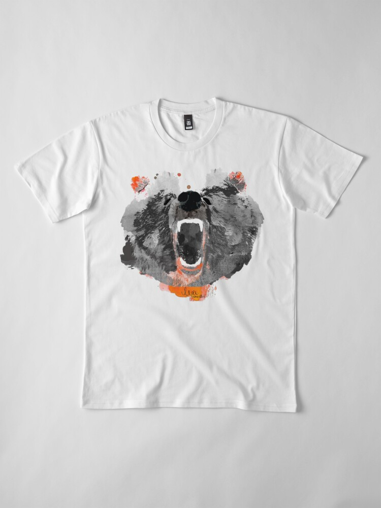 Alternate view of go bears! in black roaring bear Premium T-Shirt