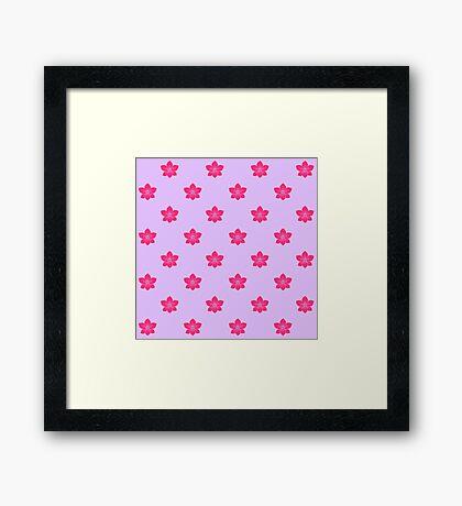 Patrón de orquídea rosa Lámina enmarcada