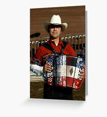 Accordion player greeting cards redbubble accordion player cotati accordion festival greeting card m4hsunfo