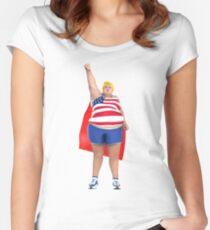 Donald Trump superhero Women's Fitted Scoop T-Shirt