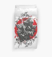 Black Samurai Duvet Cover