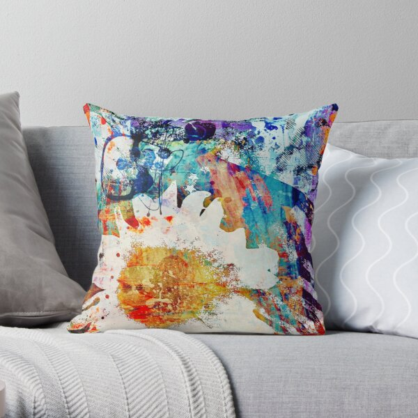 Bold Is Colorful Throw Pillow