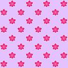 «Patrón de orquídea rosa» de EuGeniaArt