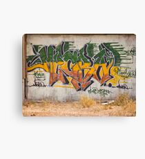 Graffitti Signed Canvas Print