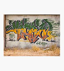 Graffitti Signed Photographic Print