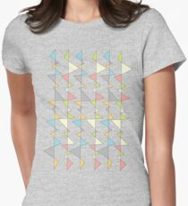 Retro Triangles Women's Fitted T-Shirt