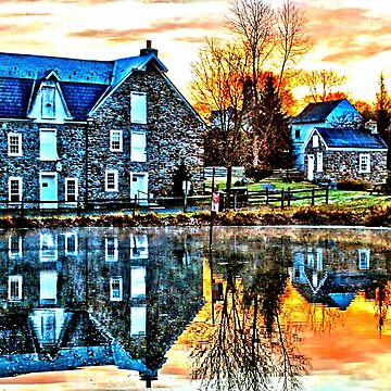 Reflection At Wagner Mill - HDR by djphoto