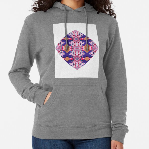 Pattern, design, tracery, weave, drawing, figure, picture, illustration Lightweight Hoodie