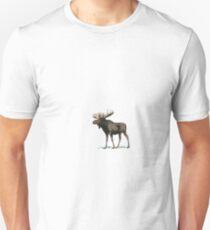 Vintage Moose Illustration Unisex T-Shirt