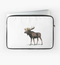Vintage Moose Illustration Laptop Sleeve