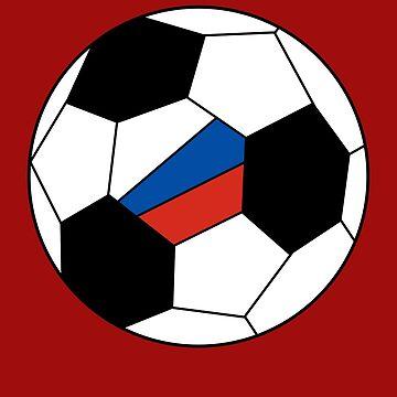 Russian Soccer Ball - Russian Football - Russian Flag by Natalia-Art