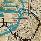 Antwerp Map (grunge) by dncnmckn