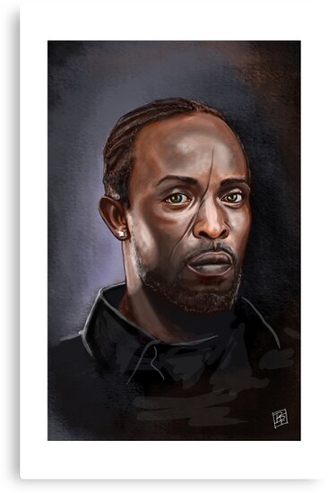 Omar Little - The Wire -  Famous People by Billi French