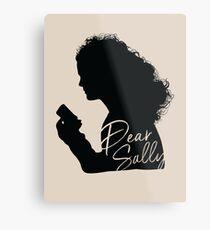 Dear Sally (Black Version) Metal Print