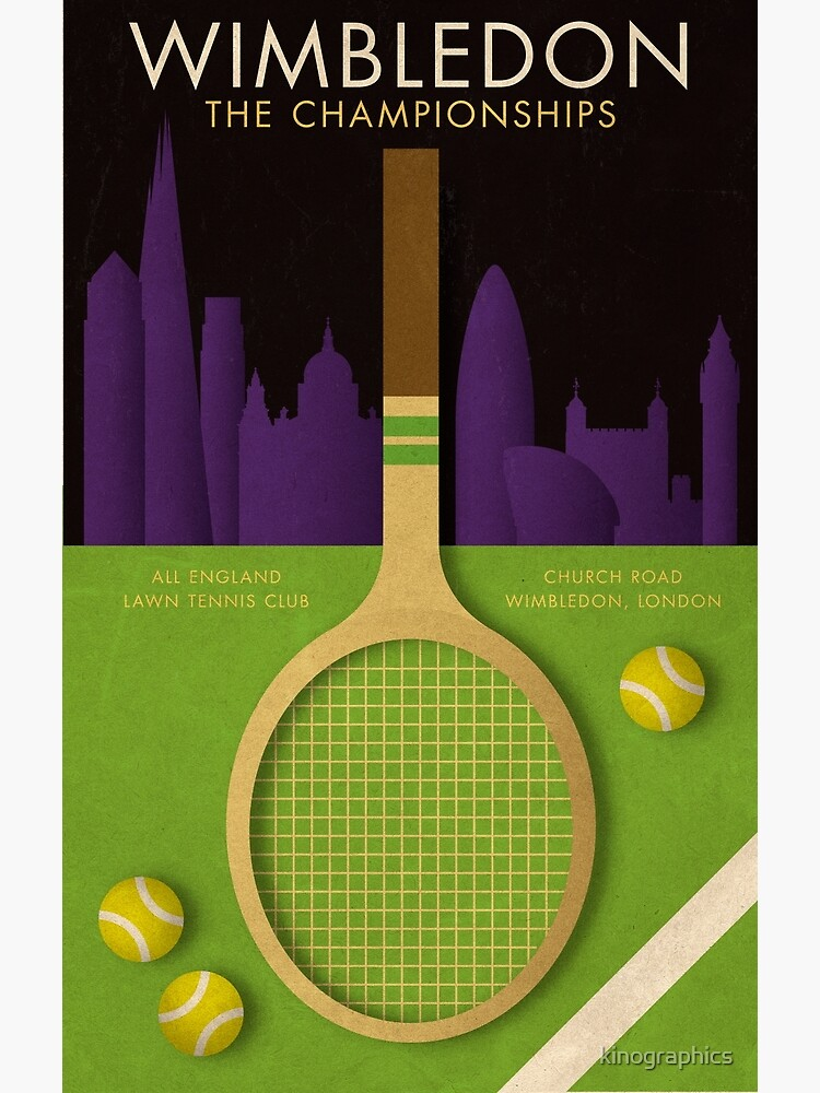 WIMBLEDON TENNIS POSTER by kinographics