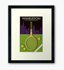 WIMBLEDON TENNIS POSTER Framed Print