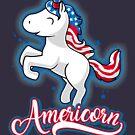 Americorn-Patriotic Proud American Unicorn Kids Gift by Cheesybee