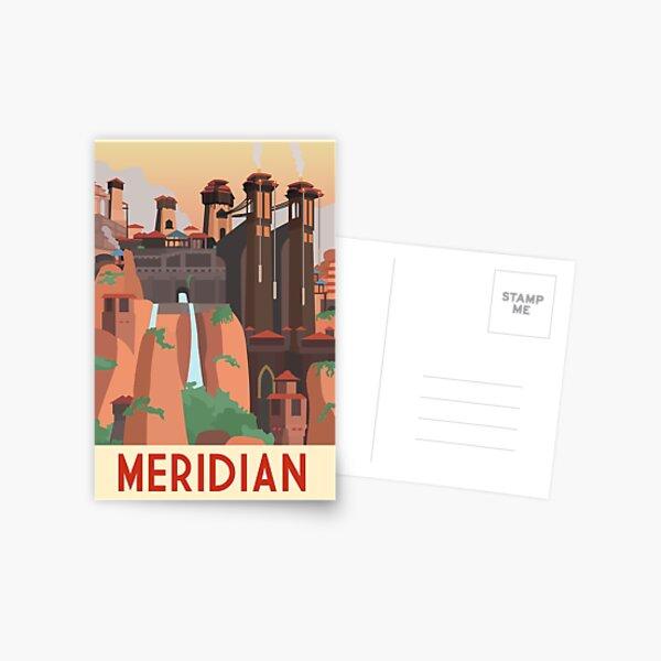 Horizon: Zero Dawn Vintage Meridian Travel Poster Postcard