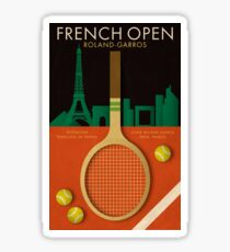 FRENCH OPEN TENNIS POSTER Sticker