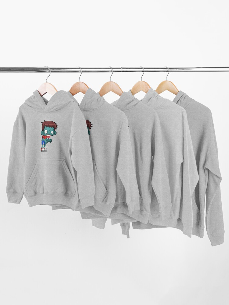Alternate view of Funny Zombie Boy Kids Pullover Hoodie