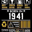 Birthday Gift Ideas - Born In 1941 by wantneedlove