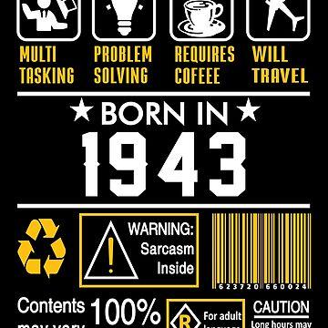 Birthday Gift Ideas - Born In 1943 by wantneedlove
