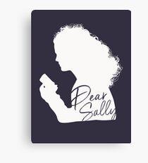 Dear Sally (White Version) Canvas Print