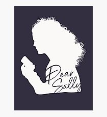 Dear Sally (White Version) Photographic Print